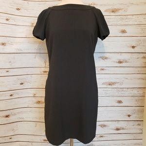 Charcoal Grey Tulip Sleeve Shift Dress w/ pockets